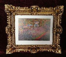 Bild mit Rahmen Monet Blumen Gemälde mit Rahmen Rechteckig 45x38 Barock 345B