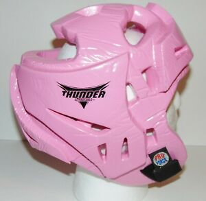 MA MMA Martial Arts Thunder Proforce Pink Head Gear Youth Large Preowned