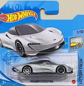 hot wheels McLaren Speedtail Silver New Release 2021 K Box Short Card