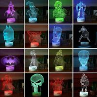 Super Hero Spider Man 3DLED Night light Touch Swift Table Desk Lamp Gifts 7Color