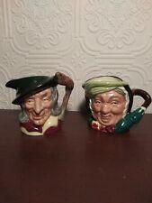 Royal Doulton Pied Piper And Sairey Gamp Mugs