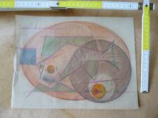 AVANTGARDE, BAUHAUS, ORIGINAL, Geometrische/Fisch, Expressionismus, Paris 28