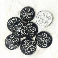 20x 14mm black flower Acrylic Flatback Cabochon ScrapbookIng for iPhone/craft ~