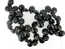 Black Turquoise Pear Briolette beads 12x14mm