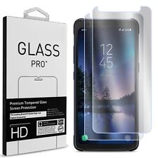 Clear Tempered Glass Screen Protector For Samsung Galaxy S8 Active 2 Pack 9H HD