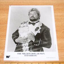Ted Dibiase official original 8x10 wcw wwe wwf promo photo 1989