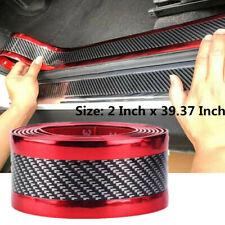 Car 5D Carbon Fiber Sticker Molding Door Sill Rubber Protector Parts Accessories