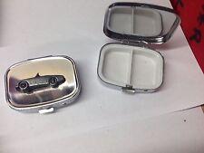 Austin Healey Frog Eyed Sprite ref16 pewter effect car emblem on a zip puller