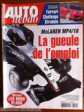 AUTO HEBDO 1394 du 28/5/2003; McLaren MP4/18/ Bon plan Monaco/ Essai Ferrari