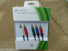 Microsoft XBOX 360 OFFICIAL Component HD AV Cable New & Sealed genuine lead TV