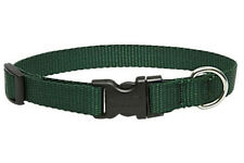 "Lupine Dog Collar 1"" GREEN 12"" - 20"" New Solid Forest Green Nylon Made in USA"