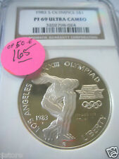 NGC PROOF UCAM69 1983-S Los Angeles Olympic Commem. Silver $