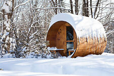 Barrel Sauna,Red Cedar,Front Porch,Electric Heater, 8 Feet, Fits 4+2 (BRT-68P-C)