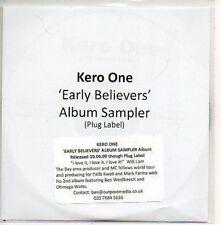(556D) Kero One, Early Believers sampler - DJ CD