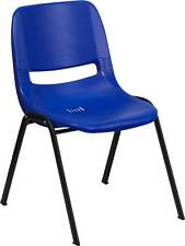 Lot of 16 440 LB. CAPACITY PRESCHOOL NAVY STACK CHAIRS AND 12'' SEAT HEIGHT