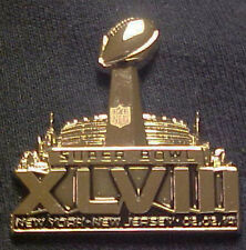 Wholesale lot of 10 Super Bowl 48 XLVIII TROPHY PINS BRONCOS SEAHAWKS