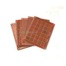 Foré Single Sided Copper Prototype PCB matrice Epoxy Fibre de Verre Planche 70x200