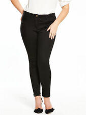 Womens SKINNY Jeans Black Size 18 to 16 Supersoft V by Very Curve Stretchy