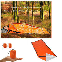 Emergency Sleeping Bag Thermal Waterproof For Camping Hiking Outdoor Survival aa
