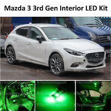 VERDE Premium per Mazda 3 2013-2018 interno completo aggiornamento Kit Lampadina LED Luce