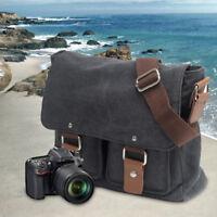 Vintage DSLR Camera Messenger Bag Shoulder Sleeve Photo Case for Canon Nikon SLR