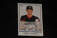 HOBY MILNER 2011 TOPPS USA BASEBALL CERTIFIED AUTHENTIC SIGNED AUTOGRAPHED CARD