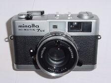 minolta HI-MATIC 7SII 35mm Film Rangefinder Camera with ROKKOR 40mm F/1.7 Lens