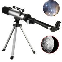 360/50mm Refractive Astronomical Telescope Monocular Stars Moon Space Refractor