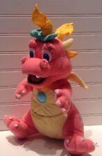 "1999 Dragon Tales Cartoon 14"" Plush Pink Baby Dragon Cassie Stuffed Animal"