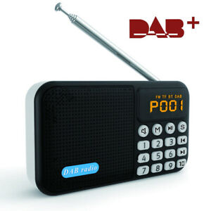DAB / DAB+FM Digital Radio Portable with Rechargeable Battery Bluetooth Speaker