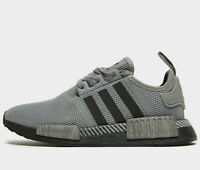 Adidas Originals NMD R1 GS ® ( Size UK 5 EUR 38 ) Grey / Black Latest NEW