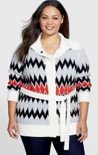 Vince Camuto Jacquard Sweater Jacket 1X NWT $144