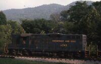 C&O CHESAPEAKE & OHIO Railroad Locomotive 6246 Original 1976 Photo Slide