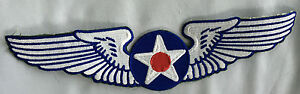 US Air force wings Vintage embroidered cloth back patch.