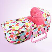 New Baby Moses Basket Portable Newborn Travel Bed Bassinet Comfy Cradle W/Hood