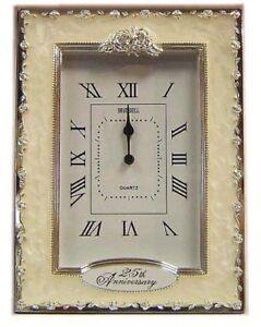 25th Anniversay Silver Wedding Quartz Clock Nice Birthday Party Gifts Present