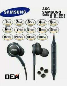 NEW AKG Headphones OEM Original For Samsung S9 S8+ Note 8 Earphones EarBuds Lot
