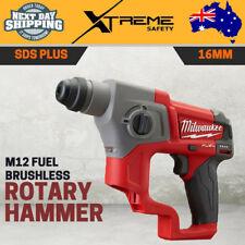 New Milwaukee M12 Fuel Brushless 16MM SDS Plus Rotary Hammer Drill Tool - Skin