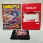 ⭐RoadBlasters SEGA Genesis Box & Game ONLY NO Manual Contacts Cleaned Tested!⭐👀