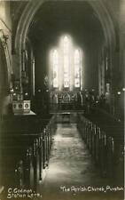 REAL PHOTO POSTCARD OF PURSTON CHURCH INTERIOR, (NEAR WAKEFIELD), WEST YORKSHIRE