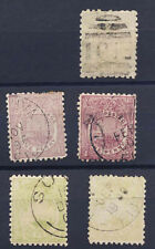 Fiji 1896-1900 Small Lot 5 Classic Stamps #55-56 Used Canoe FREE Ship after 1st