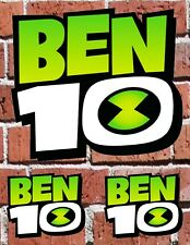 """BEN 10 LOGO - 7"""" and 3"""" DECAL STICKERS for HOME, SCHOOL, AUTO, LAPTOP, SKATE"""