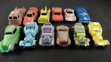 12 Pc Lot Tootsietoy Die-Cast Metal Cars Including a Blue Mercedes