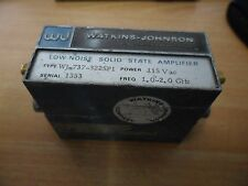 Watkins Johnson WJ Low Noise Solid State Amplifier 1-2GHz WJ-737-322SP1 115VAC