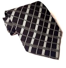 Giorgio ARMANI Menswear Dress Suit Tie CRAVATTE Linear Silk PLAID Men's Necktie