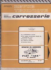 VINTAGE Revue technique automobile 1968 CARROSSERIE FIAT 124