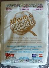 """Batting, Cotton Batting, Crib Size 45"""" x 60"""", Warm and White for Quilting"""