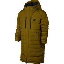 Nike NSW Long Down Parka - LARGE - NEW- 807393-368 Puffy Olive Black Jacket Duck