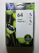 HP 64 2-pack Tri-color Original Ink Cartridges OCT 2022