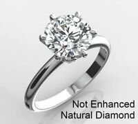 1 1/2 CARAT REAL NATURAL CLARITY DIAMOND ENGAGEMENT RING D VS1 14K WHITE GOLD